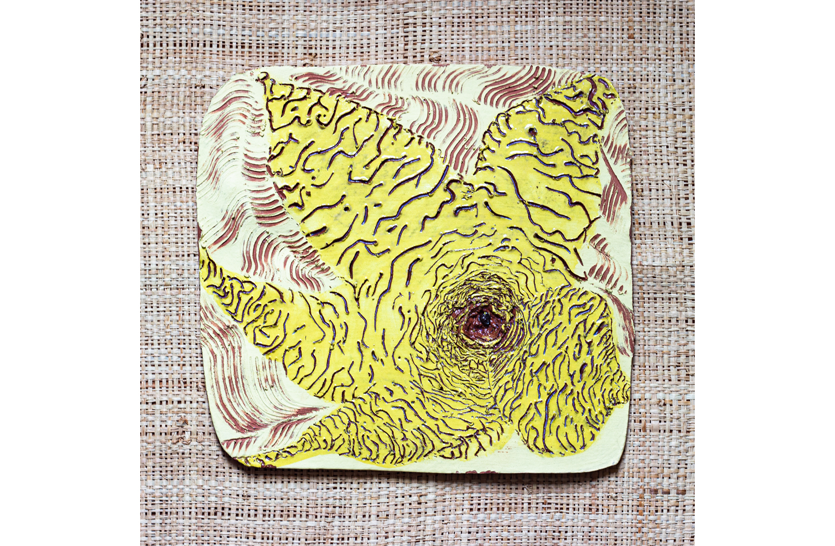 Ceramic, Clay, Glaze, Plate, yellow