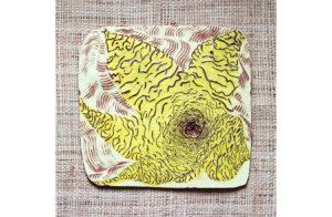 Ceramic, Clay, Glaze, Plate, yellow